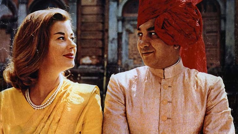 Lavish lives: Gina Narayan with her husband, the Maharajah of Cooch Behar.