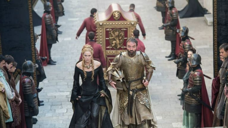 Cersei and Meryn Trant in Game of Thrones season 5.