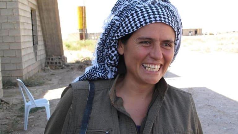 Commander Nuve Rojhat of the PKK at the Daquq PKK base 50 kilometres south of Kirkuk.
