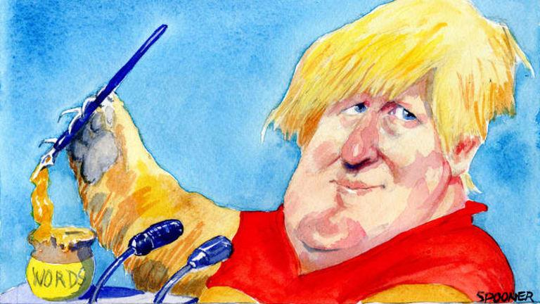 Boris Johnson. <i>Illustration: John Spooner</i>