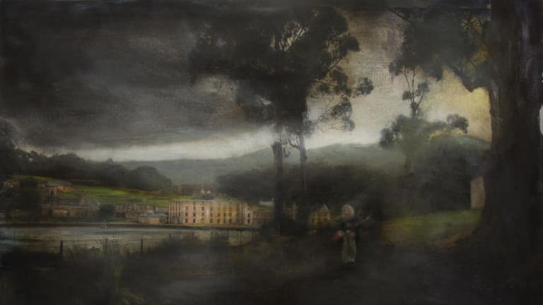 Rodney Pople: 'It is an eerie landscape, possessed not by the visible but by the invisible.'