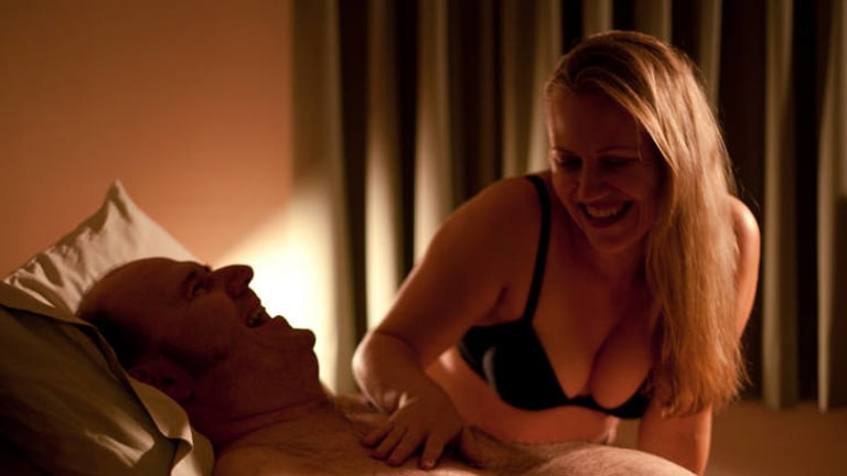 A scene from <i>Scarlett Road</i>, an Australian film about sex worker Rachel Wotton, who specialises in clients with disabilities.