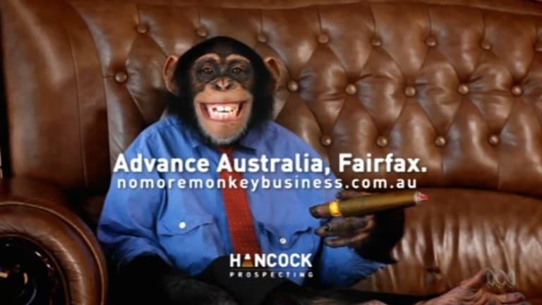 Ad number 2 - Fairfax run by monkeys ... Gruen Planet