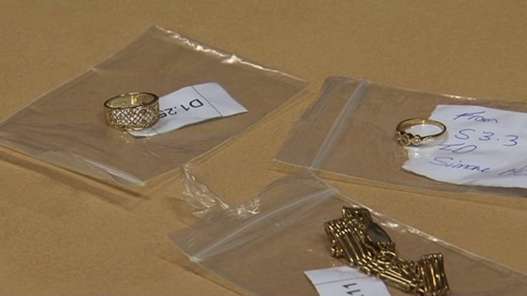 Three items of jewellery stolen from a Paddington home have been reunited with their owner, Simone.