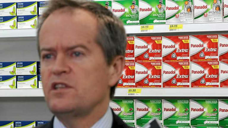 Opposition Leader Bill Shorten, during  his visit to a chemist in Queanbeyan, has accused the Prime Minister of losing control of his party.