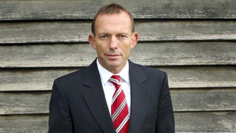 Taking poll position...  Opposition Leader Tony Abbott.
