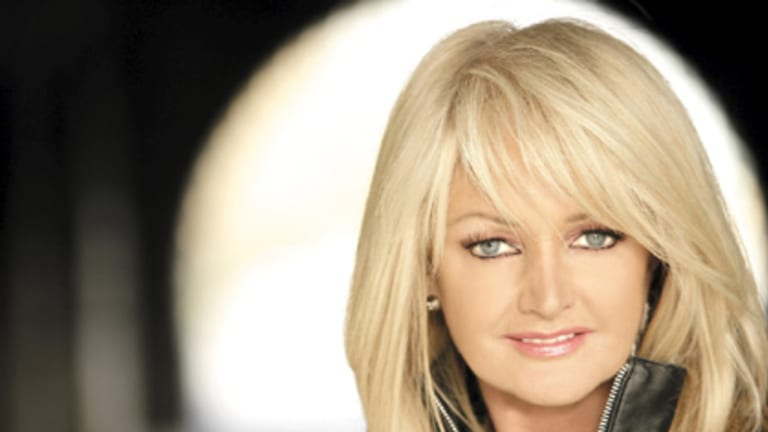 Power ballads ... Bonnie Tyler joins Gibb as his special guest.