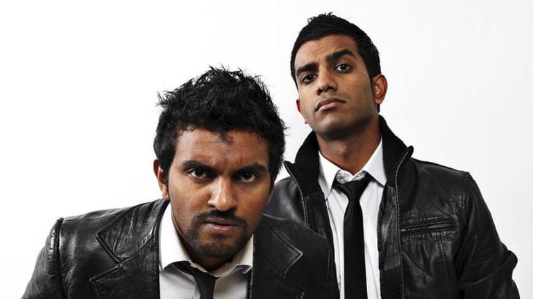 Challenging ... Nazeem Hussain (left) and Aamer Rahman.