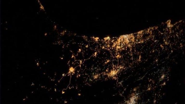 Gaza, as tweeted by astronaut Alexander Gerst.