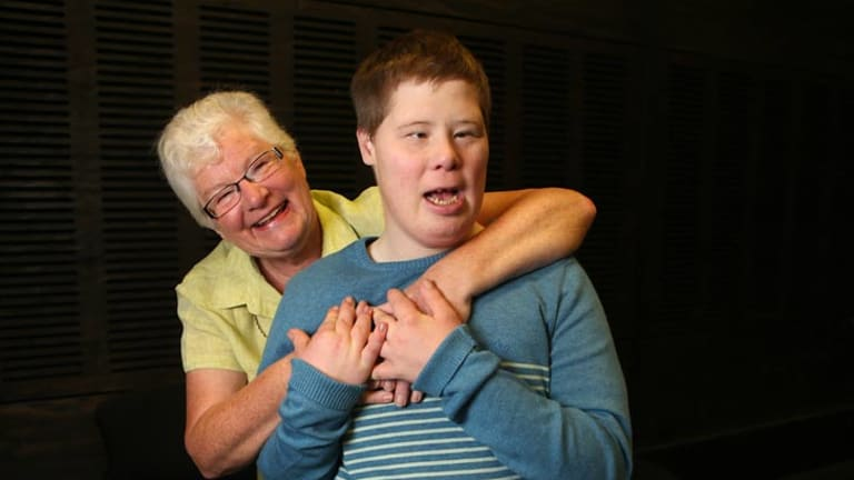 Krystyna Croft with her son Robert, 30, who has Down syndrome and autism.