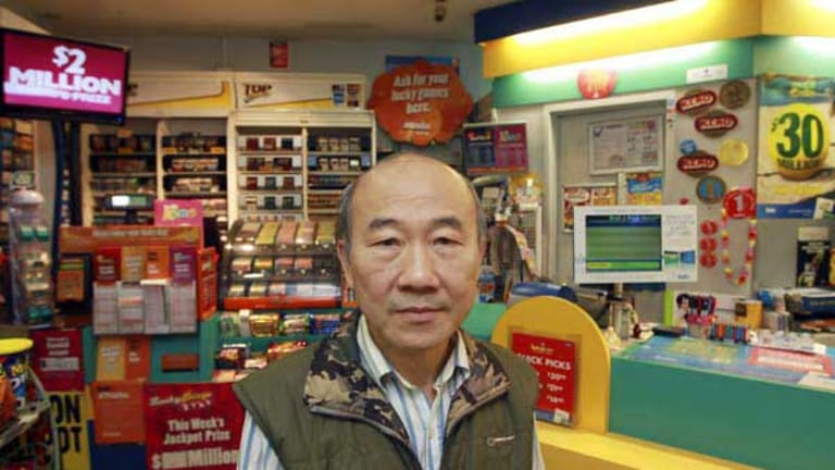 Yuan Wu had Intralot for two years and he says sales are slow, the terminal is slow and he barely covers costs. <i>Picture: Rebecca Hallas</i>