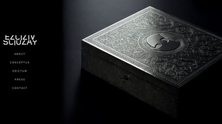 The hand-carved silver and nickel case for <i>Once Upon a Time in Shaolin</i>, as designed by British Moroccan artist Yahya.
