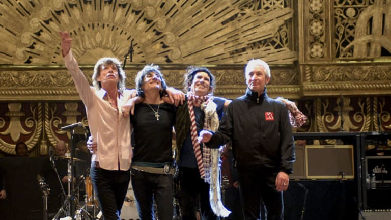 Wood in the spotlight with the Stones.