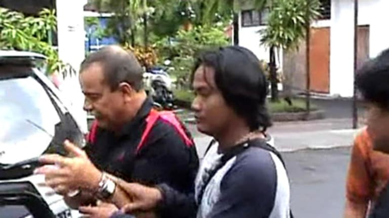 Robert Mcjannett after his arrest in Bali.
