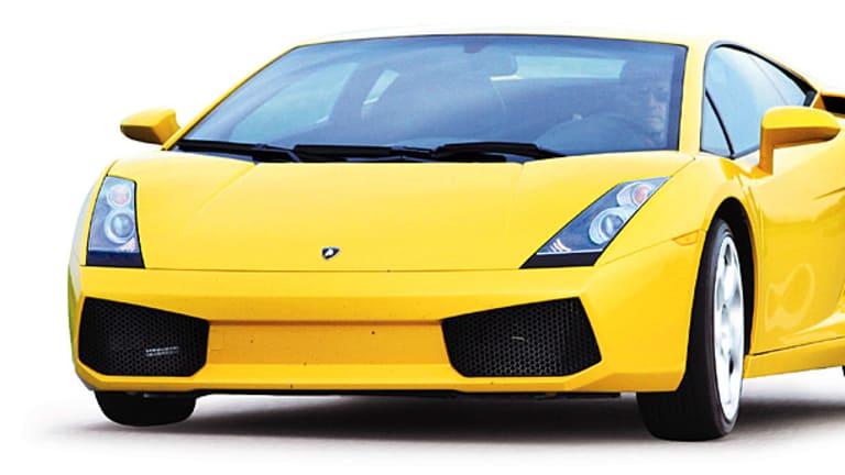 A Lamborghini Gallardo Coupe.