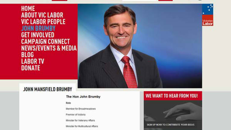 John Brumby features in Labor's new US-style website to be launched today and inspired by Barack Obama's net tactics.