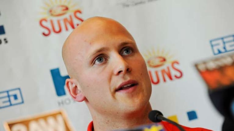 Gary Ablett speaks after signing with the Gold Coast Suns.