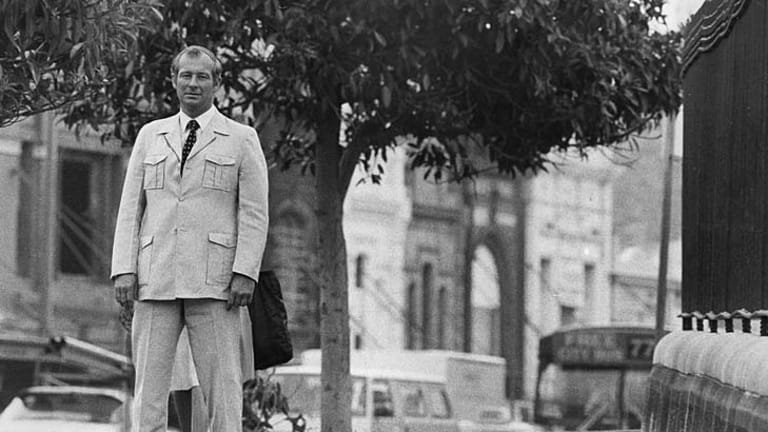 Roger Rogerson on Oxford Street in Sydney in 1982.