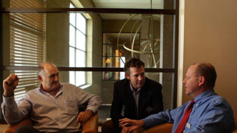 Auscott's Dave Anthony, Mr Gaynor and Mr Napier.