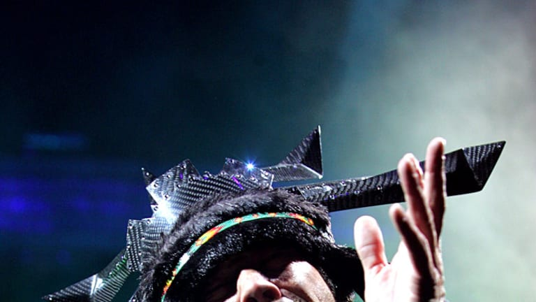 Getting the party started ... Jamiroquai.
