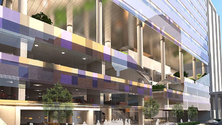 The facade of Grocon's new Queen Street building, tipped to house Suncorp.