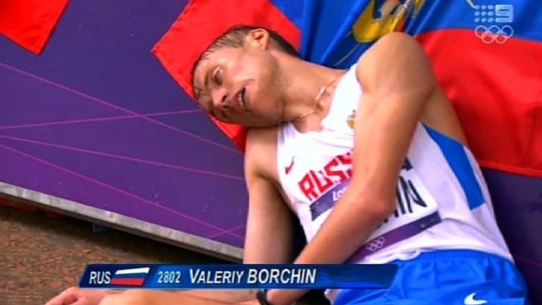 Slumped to the gorund ... Valeriy Borchin