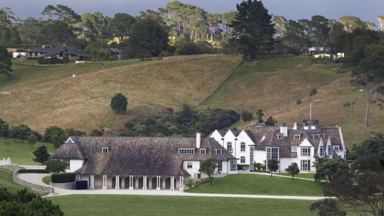 The Dotcom Mansion, home of accused Kim Dotcom.