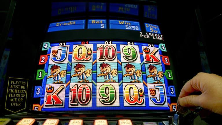 A poker machine.