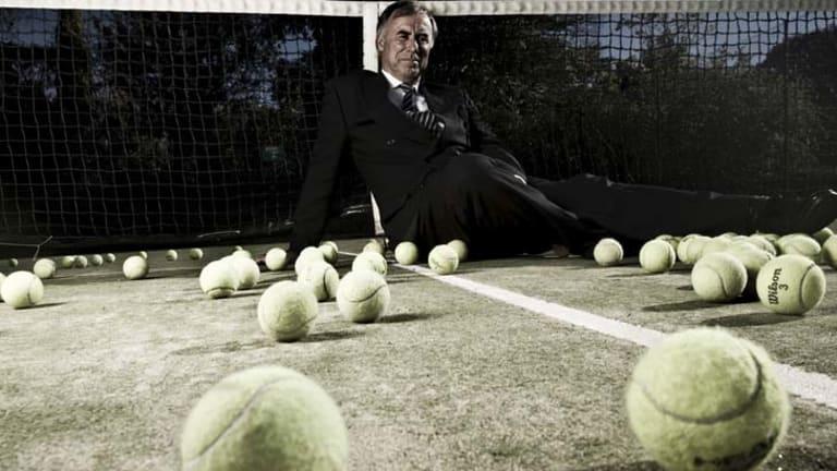 Having a ball ... John Alexander, the MP for Bennelong.