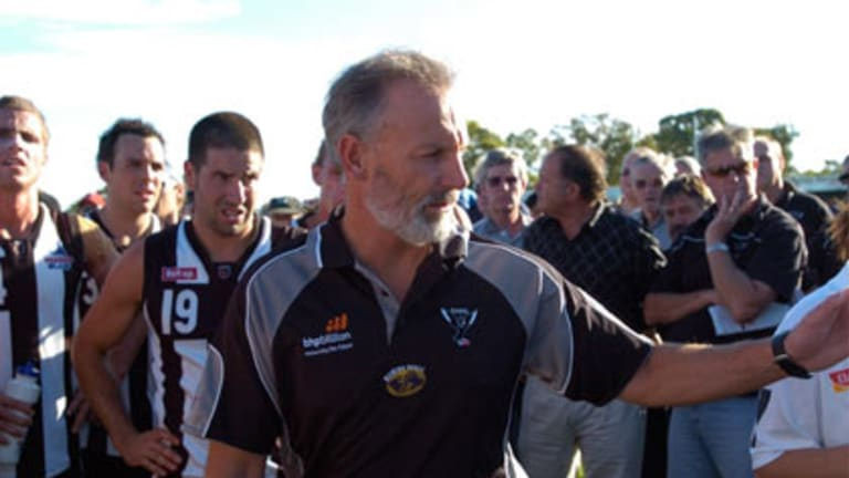 Brian Dawson is heading into his last game as Swan Districts coach.