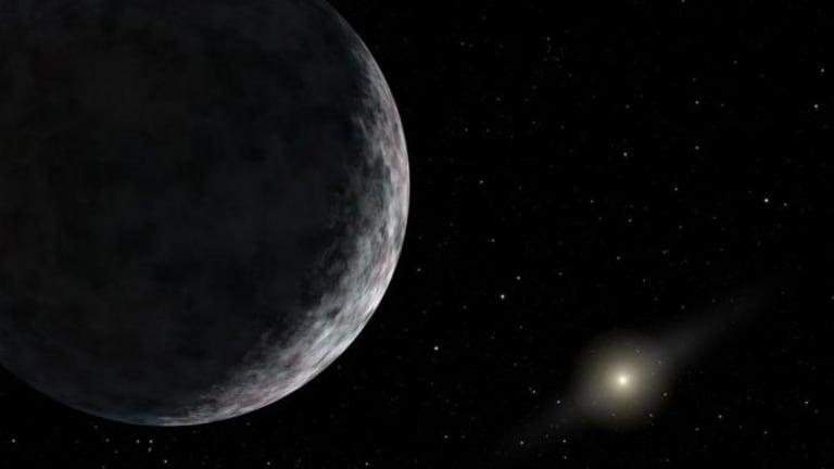 Far, far away: An artist's impression of a distant Kuiper Belt object.