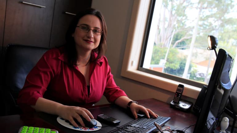 No regrets ... Janna Fikh turned part of her house into an office, cutting travel time.