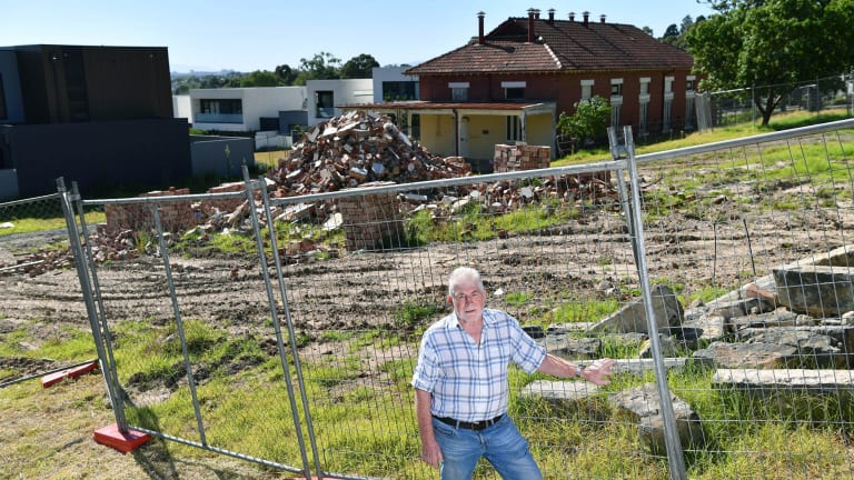 Former boss of the old Kew insitution Max Jackson amongst dilapidated heritage buildings,