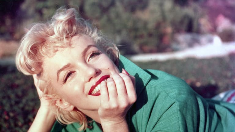 Actress Marilyn Monroe poses for George Barris in 1954 in Palm Springs, California.