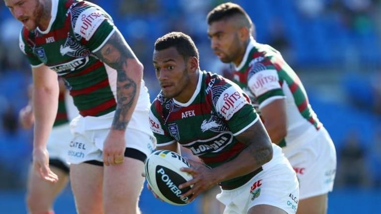 Debut: Apisai Koroisau during last month's trial between Souths and Canterbury.