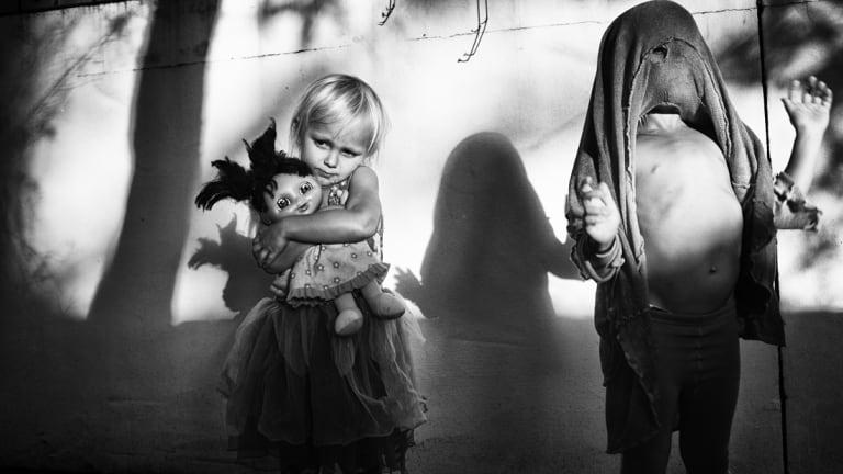 'Pandemonium's Shadow' won the 2015 Olive Cotton Award for Photographic Portraiture.