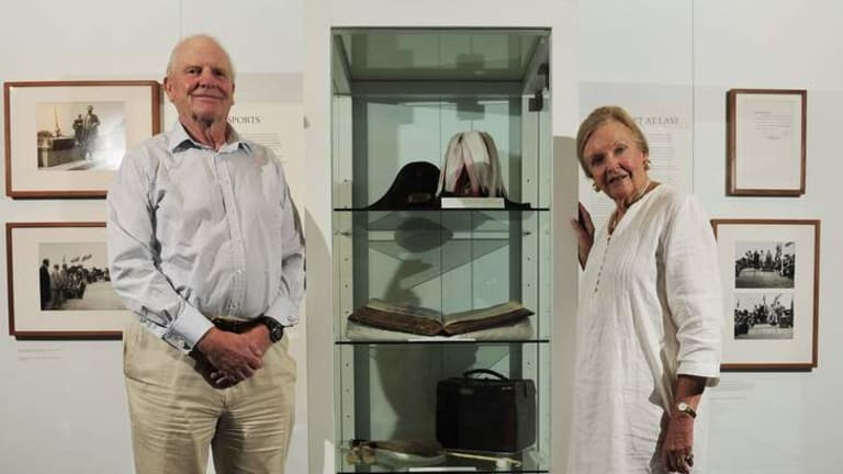 Mark and Margot Burrell at the But Once in a History exhibition. Mark has pleasant memories of his grandparents Lord and Lady Denman.
