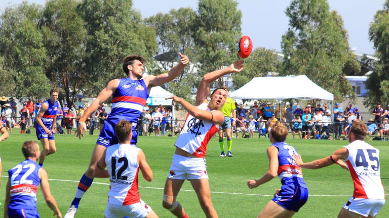 The Western Bulldogs and Melbourne fight it out in the 2016 NAB Challenge.