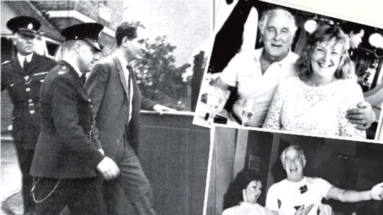 Behind bars ... (clockwise from main) Ronald Biggs being taken to Aylesbury court; with Charmian Brent in 1985; Raimunda and Biggs at his 20-years-of-freedom party in Rio de Janeiro on October 29, 1985.