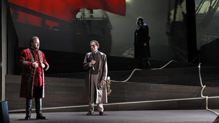 Oskar Hillebrandt, Warwick Fyfe & Carlos E Baircenas in The Flying Dutchman.