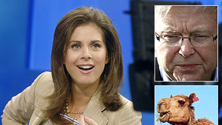 Erin Burnett is unhappy with Kevin Rudd's 'air strikes' on feral camels.