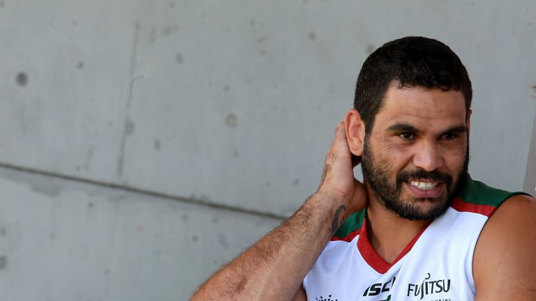 Feeling positive: Rabbitohs skipper Greg Inglis is expecting better things in 2016