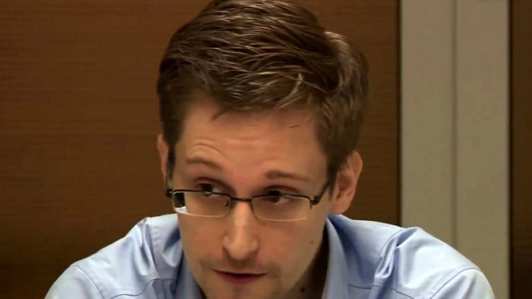 NSA whistleblower Edward Snowden, at present living somewhere in Russia.