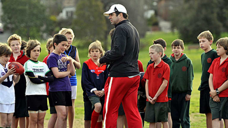 Garry Lyon enjoys teaching football to junior players, but says the rigours of coaching in the AFL do not appeal, even at his beloved Melbourne Football Club.