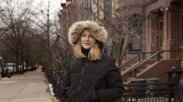 Australian author Anna Funder pictured in Brooklyn's Park Slope neighbourhood. photo by Trevor Collens Jan 20, 2015.