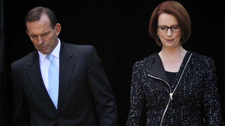 Tony Abbott and Julia Gillard.