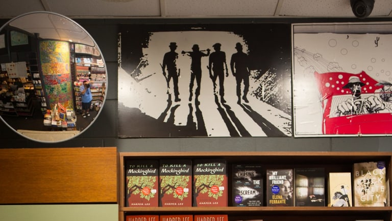 <i>Go Set a Watchman</i> took pride of place at Readings bookstore in St Kilda.