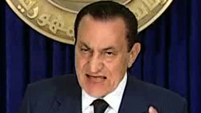 Extraordinary wealth ... former Egyptian president Hosni Mubarak.