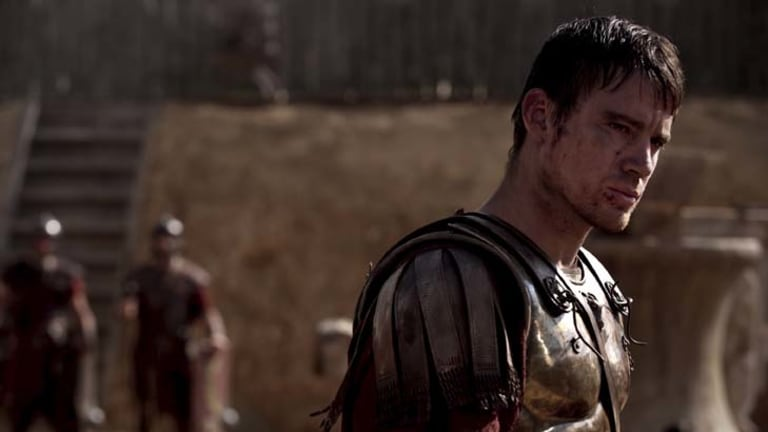 Mishaps ... Channing Tatum suffered an embarrassing injury on the set of <i>The Eagle</i>.