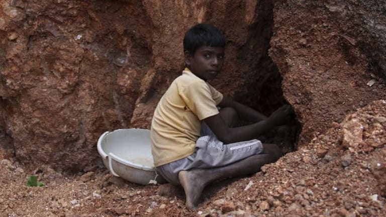Mohammed Salim Ansari, 12, mining in Jharkhand, India.